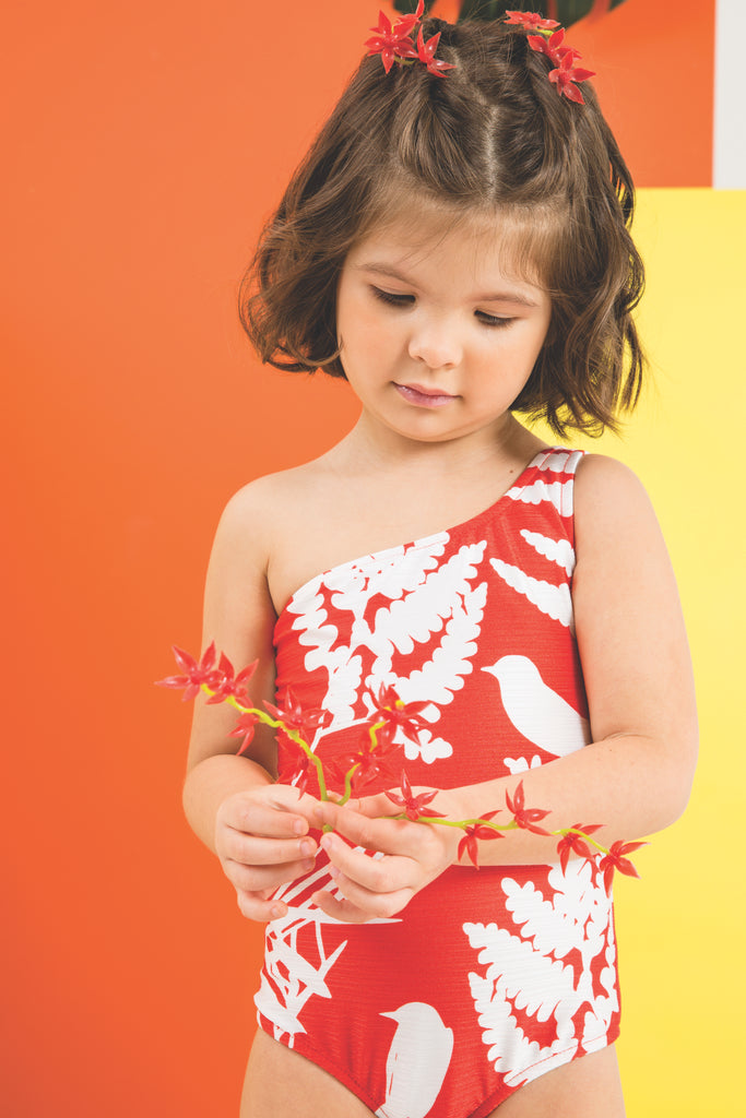 Coral One Piece Swimsuit (KIDS)