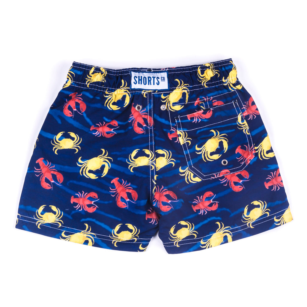 Daddy & Me Collection: Printed Crabs Shorts with bag - KIDS