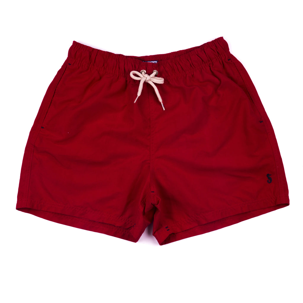Men's Solid Shorts - Crimson