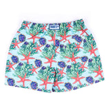 Daddy & Me Collection: Printed Starfish Shorts with bag - Adult