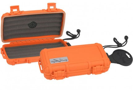 The Cigar Caddy 5 Orange Humidor