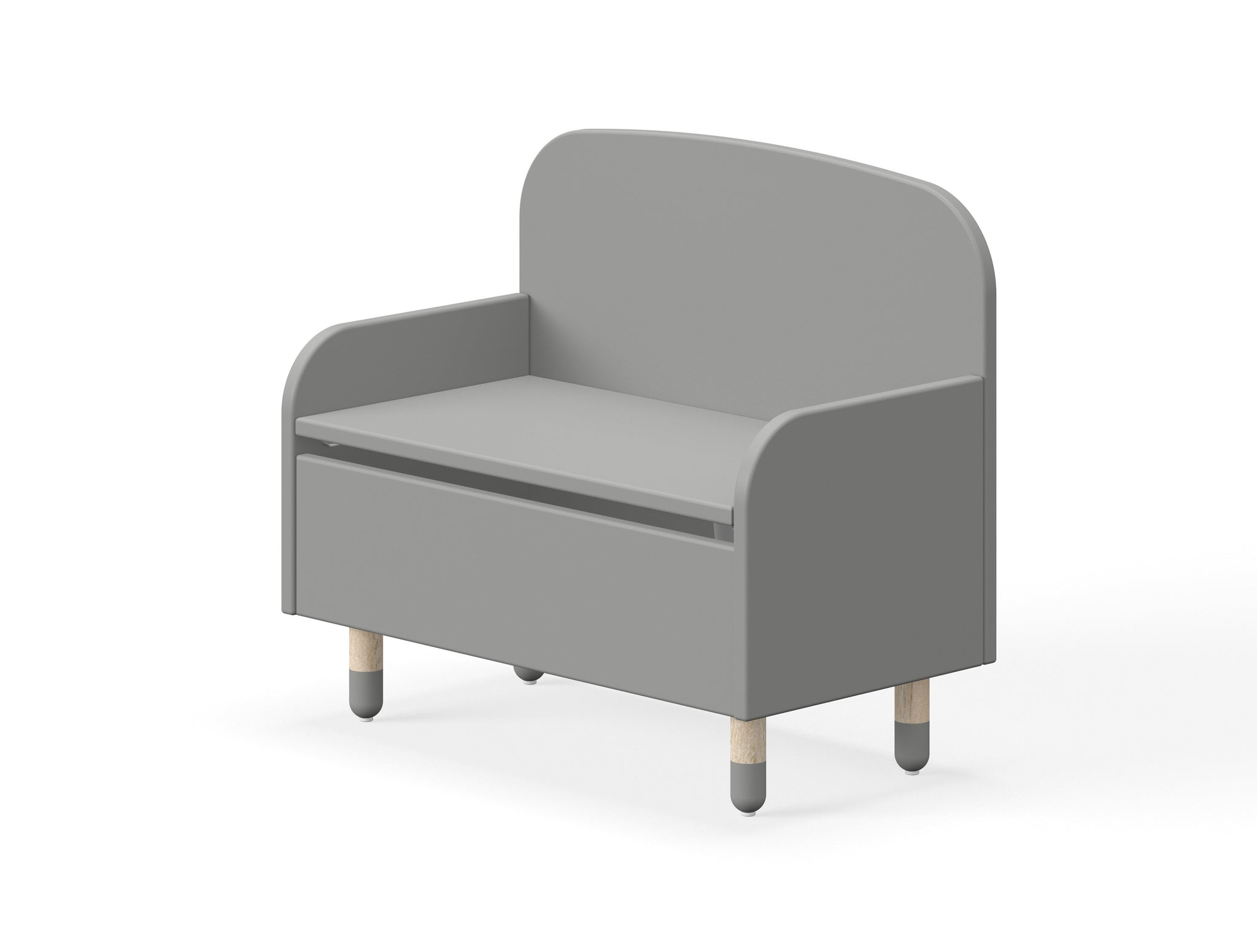 DOTS Storage Bench with back rest (view all colours)