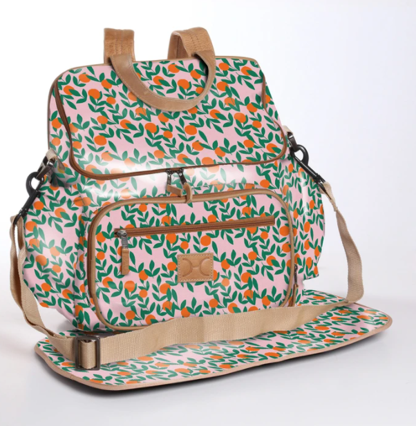It's all peachy Nappy Backpack and Changing Mat (view all options)