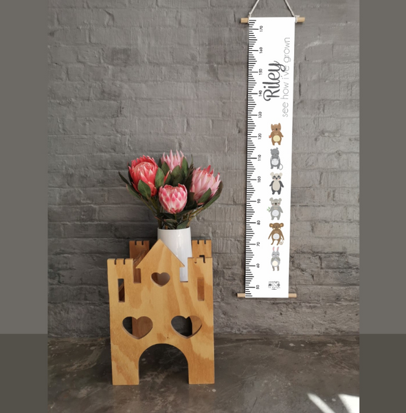 Cute critters Personalised Growth Chart