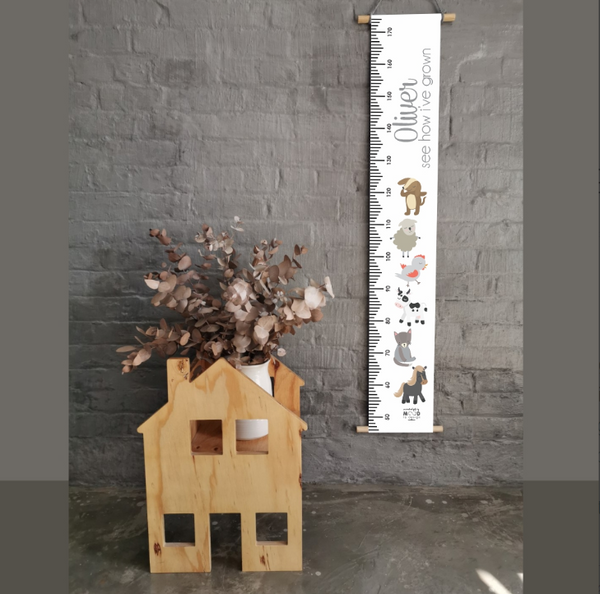 Farm Animals Personalised Growth Chart