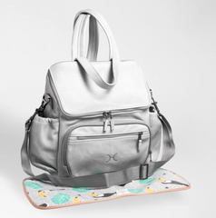 Leather nappy backpack and changing mat (view all options)