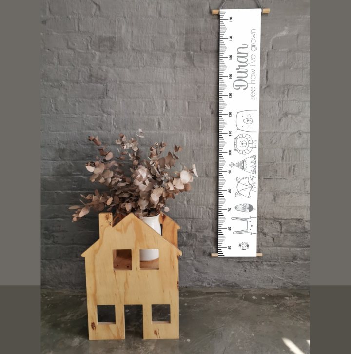Grey Tribal Personalised Growth Chart