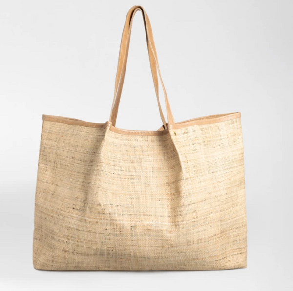 Megan Weave & Leather Bag