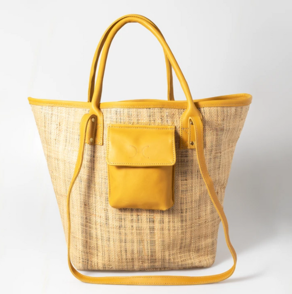 Maia Weave & Leather Bag