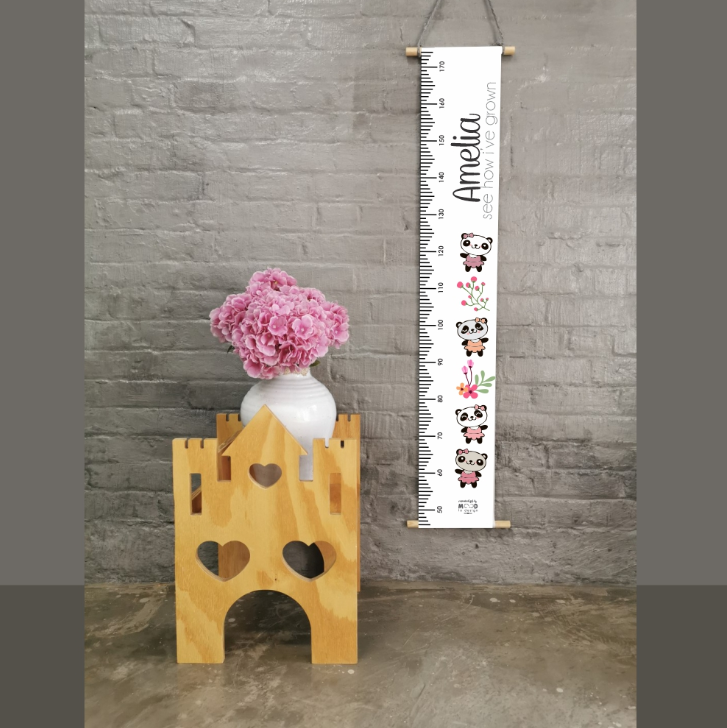 Panda Blossom Personalised Growth Chart