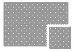 White Nordic cross on grey (12 tiles)