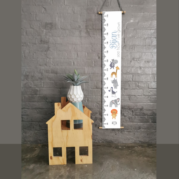 Wild Animals Personalised Growth Chart