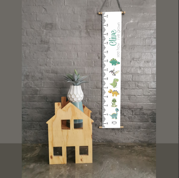 Dinosaurs Personalised Growth Chart