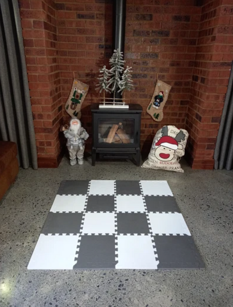Grey and White Colours Collection Play Mat