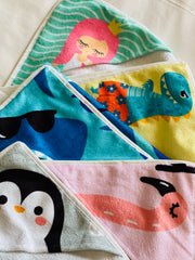 Hooded baby swim towel