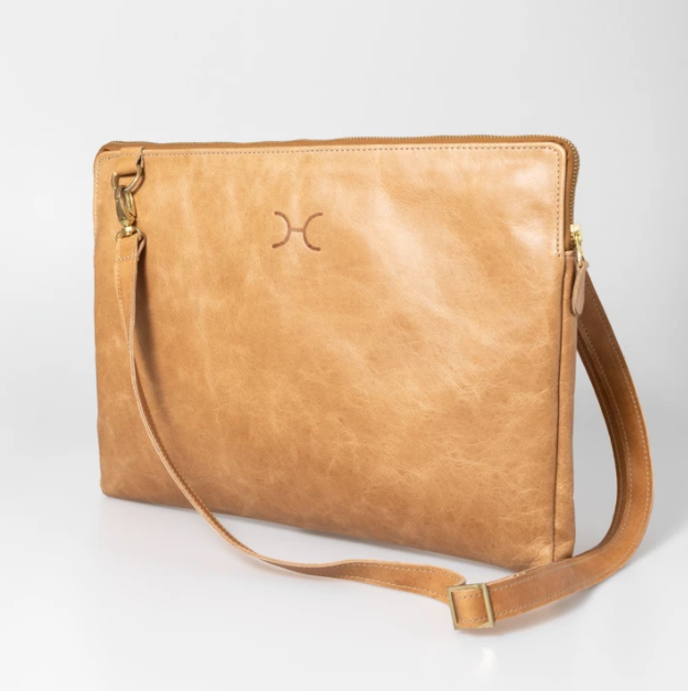 "15"" Goldie Leather Laptop Sling Bag (view all options)"