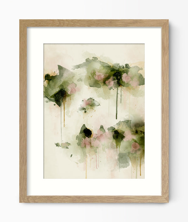Green Lili Abstract Floral Art