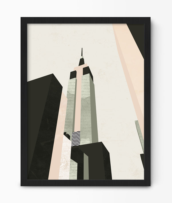 Geometric Empire State Building Print