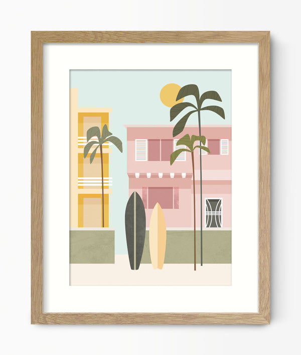 California Boardwalk Print