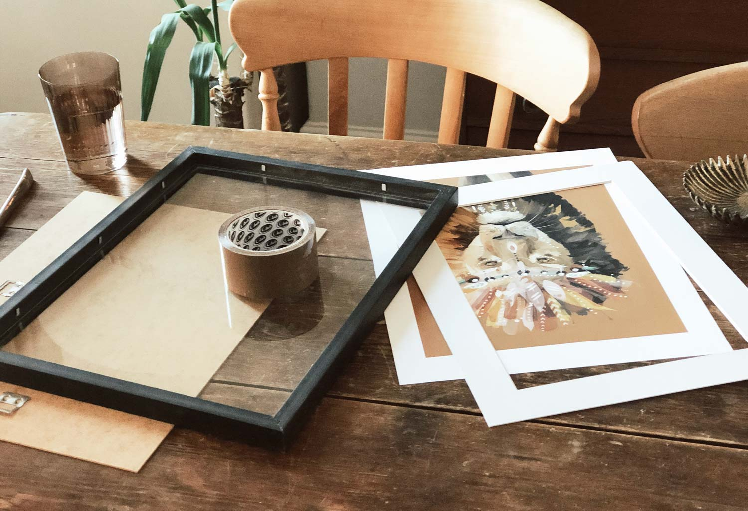How to frame a print Green Lili