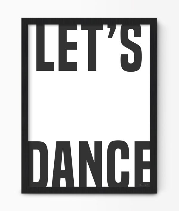 Green Lili Let's Dance Typography Print