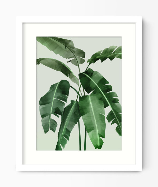 Banana Leaf Art Print
