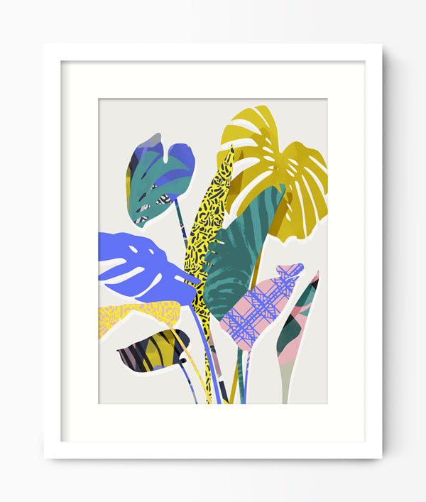 Green Lili Tropical Plant Print