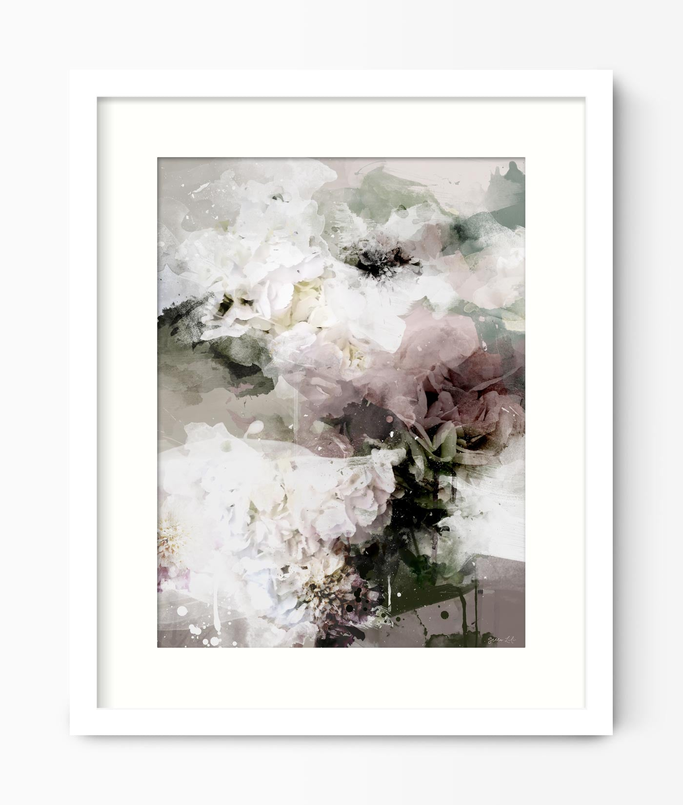 Abstract Bed Of Roses Print
