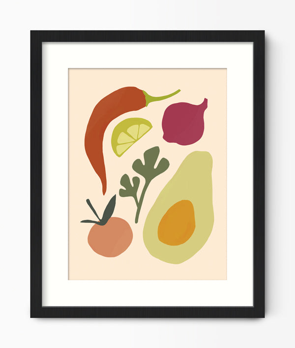 Guacamole Kitchen Print