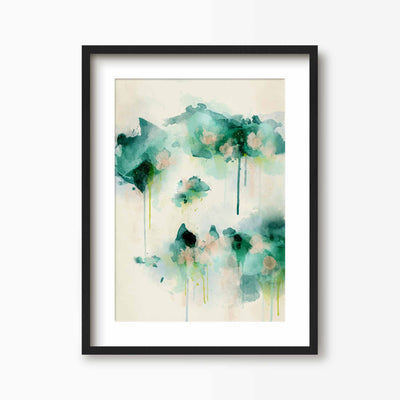 Spring Dream - Abstract Floral Art Print - Green Lili