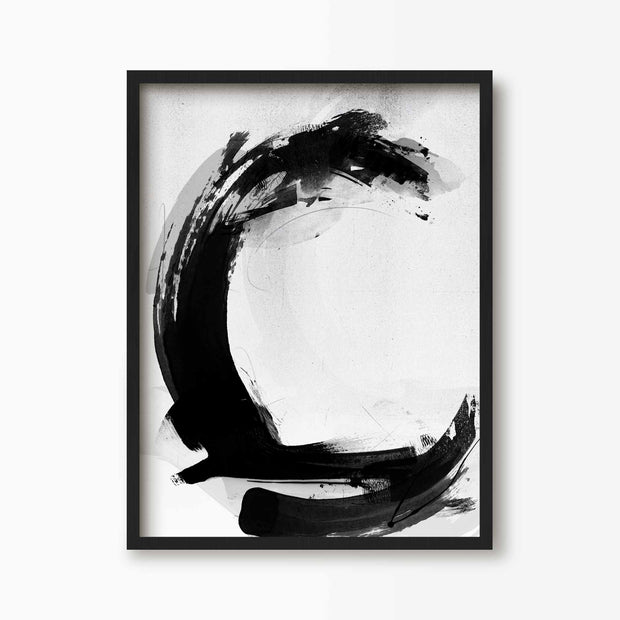 Abstract Letter C Alphabet Print - Green Lili