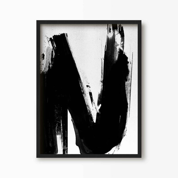 Abstract Letter N Alphabet Print - Green Lili