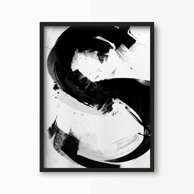 Abstract Letter S Alphabet Print - Green Lili