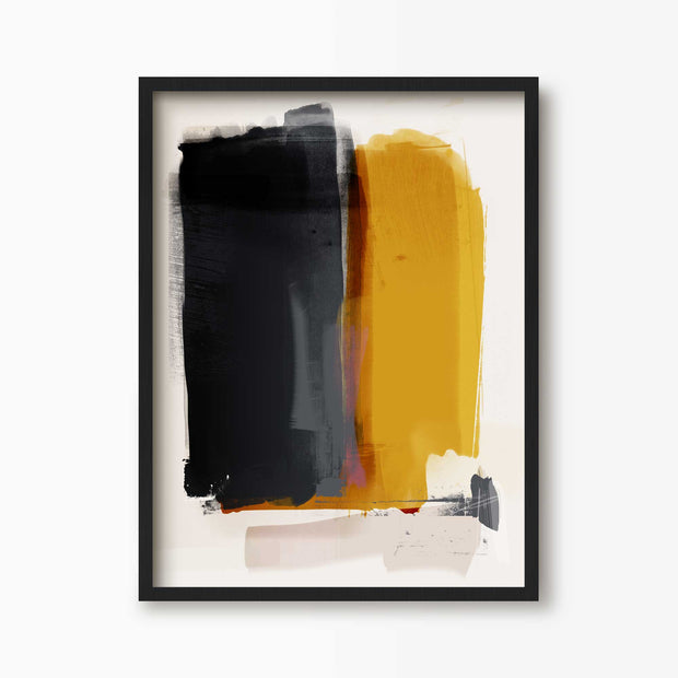 Mustard Shades Abstract Art - Green Lili