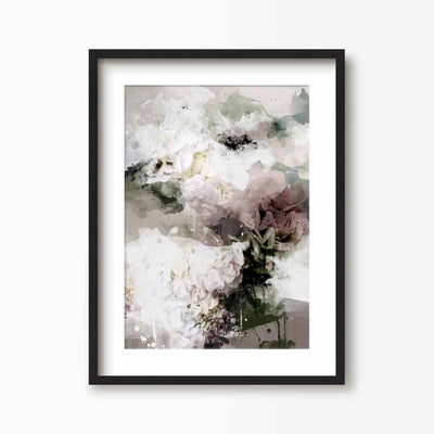 Abstract Bed Of Roses Print - Green Lili