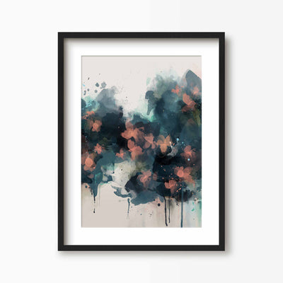 Summer Nights Abstract Floral Print - Green Lili