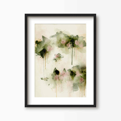 Summer Days - Floral Art Print - Green Lili