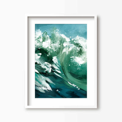 Ride the Wave - Coastal Art Print - Green Lili