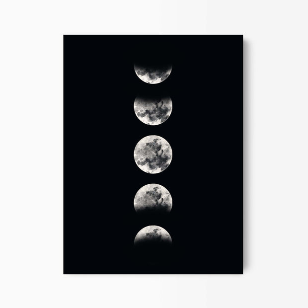 Black & White Moon Phases Print