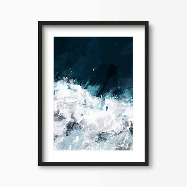 Making Waves - Coastal Art Print - Green Lili