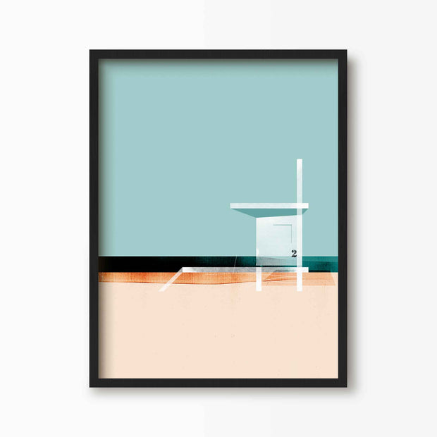 On The Lookout - Beach Art Print - Green Lili