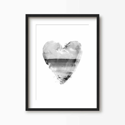 Heart Beach Print - Green Lili