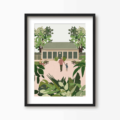 Botanical Gardens Sheffield Print - Green Lili