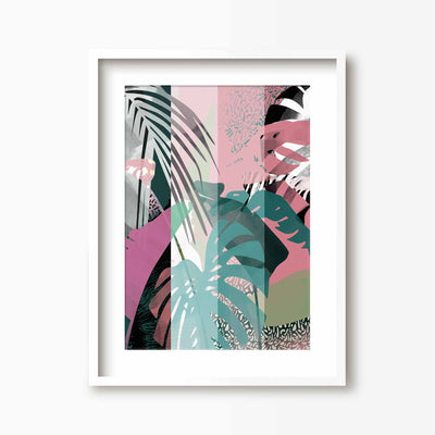 Pink & Green Mixed Botanical Print - Green Lili