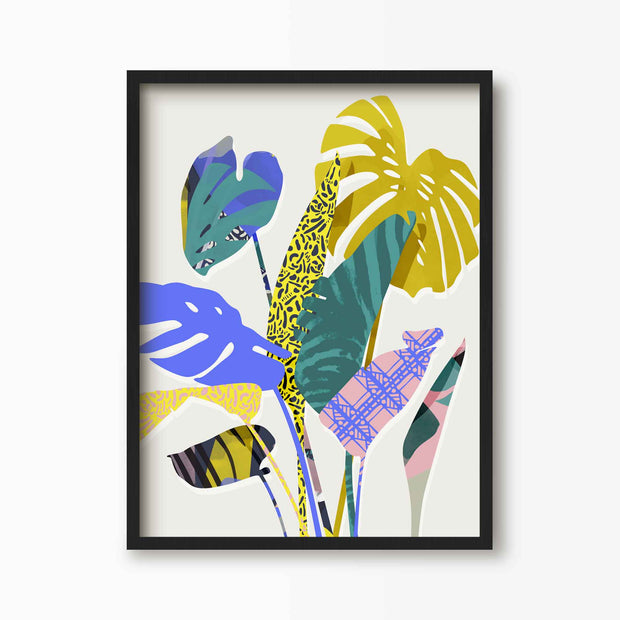 Bright Tropical Palm Leaf Print - Green Lili