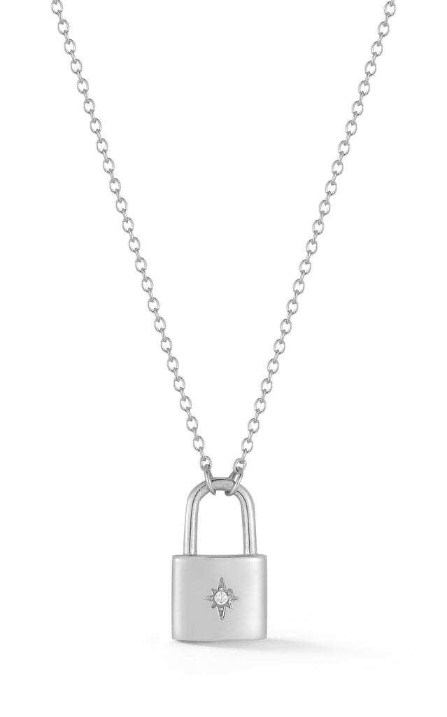 Padlock Pendant Necklace - Sphera Milano