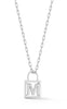 Open Padlock Initial Necklace - Sphera Milano