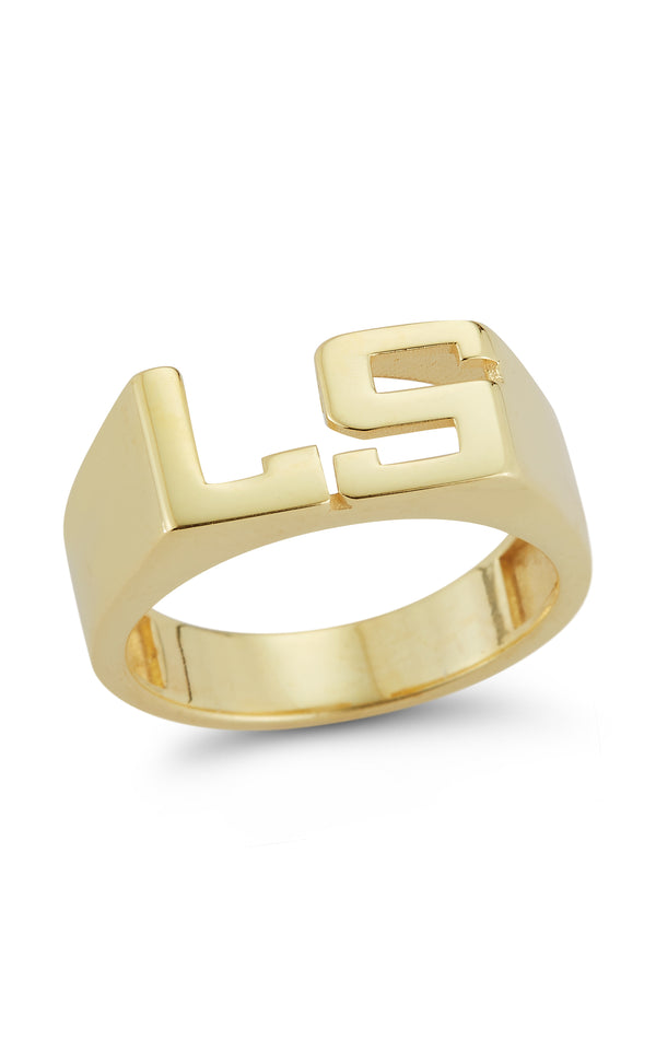 Double Initial Ring - Sphera Milano