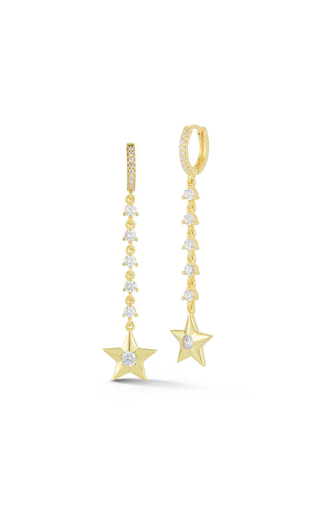 Star Drop Huggie Earring - Sphera Milano