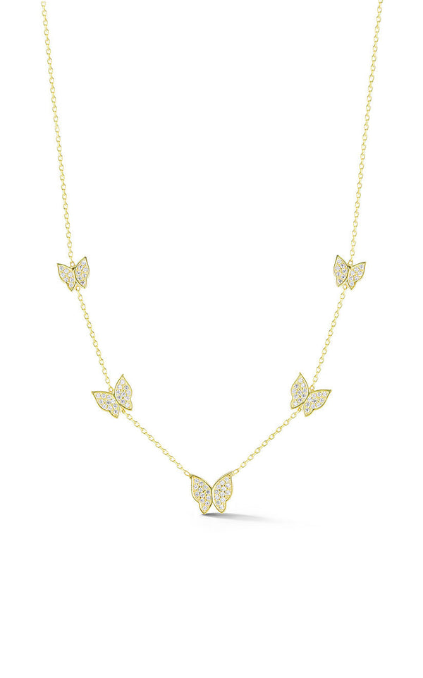 Butterfly Station Necklace - Sphera Milano